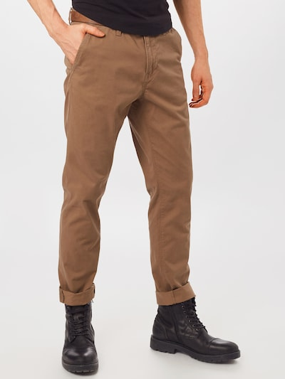 TOM TAILOR DENIM Chinohose in braun, Modelansicht