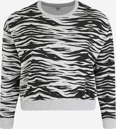 Urban Classics Curvy Sweat-shirt en gris / noir, Vue avec produit