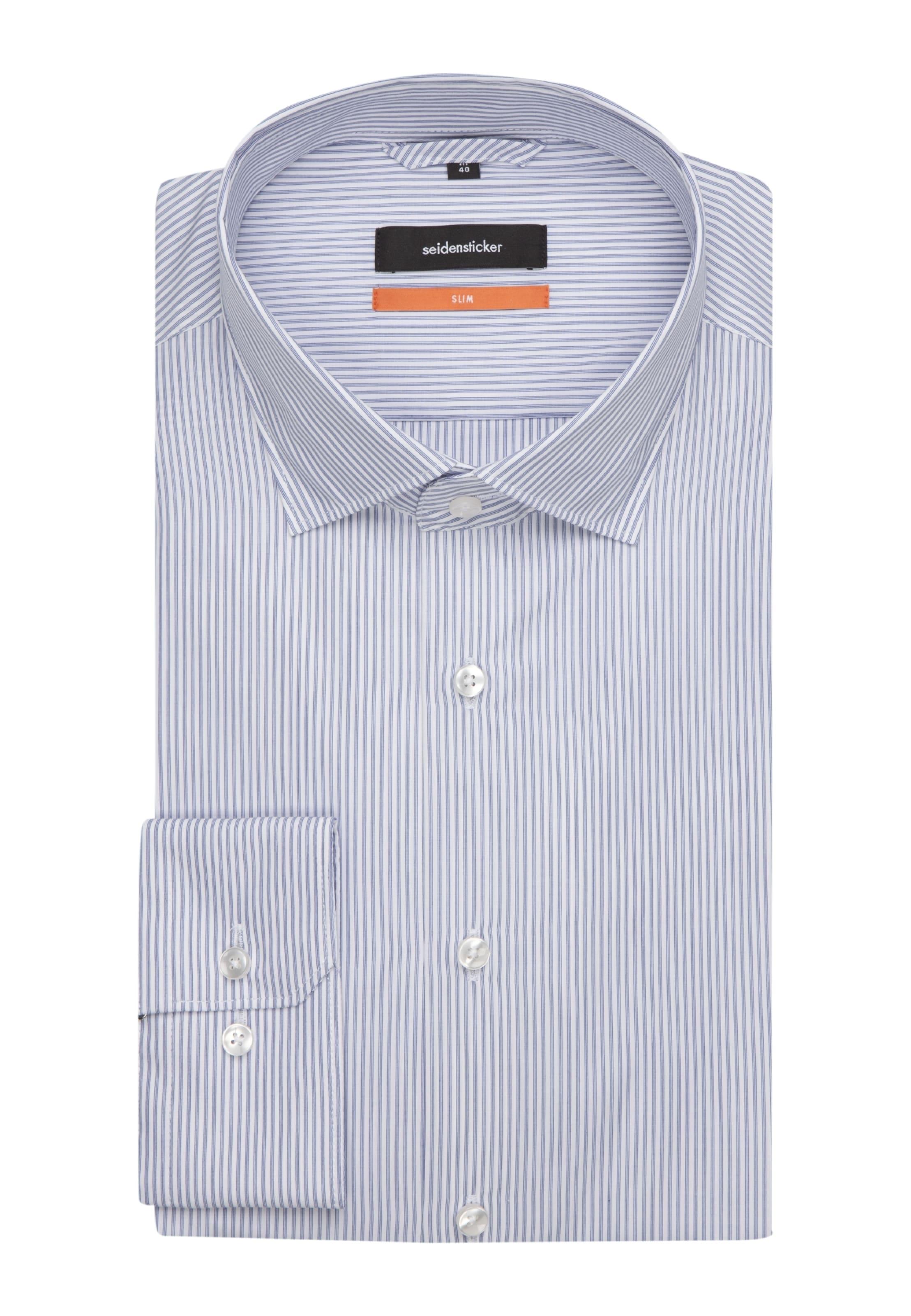 Business ' Slim Hemd BlauWeiß In Seidensticker zMGLpSqUV