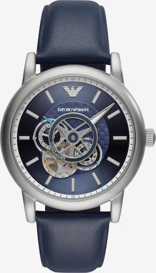 Emporio Armani Uhr in enzian / neonblau / silber, Produktansicht