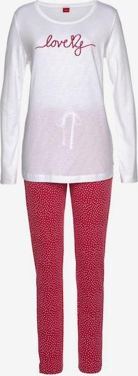 s.Oliver Schlafanzug in rot / weiß, Produktansicht