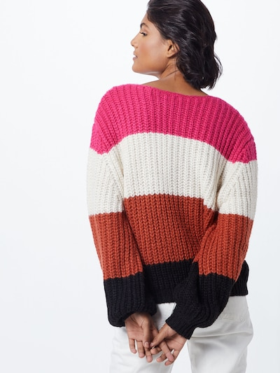 CATWALK JUNKIE Sweter w kolorze mieszane kolory / różowym: Widok od tyłu