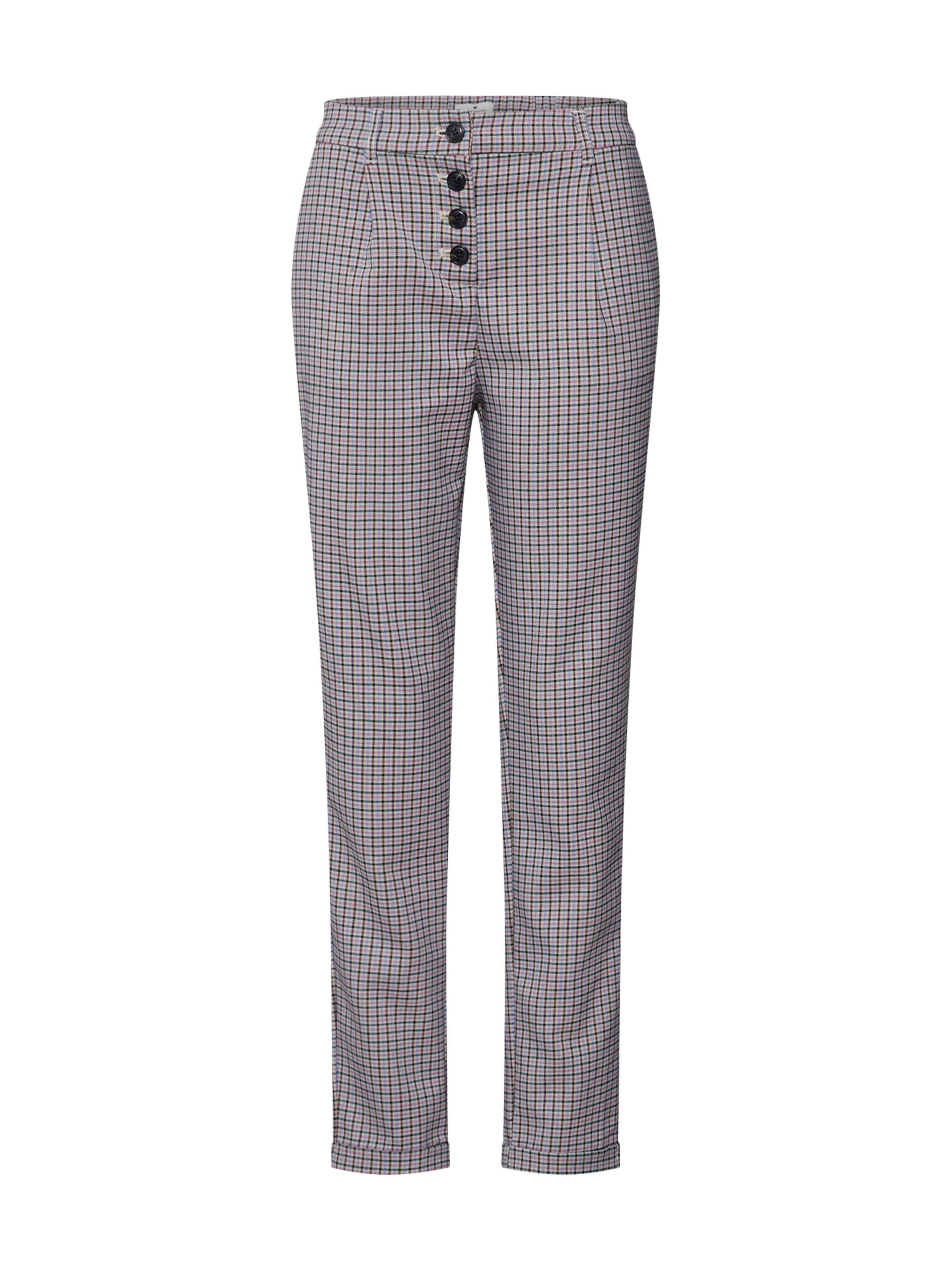 Trousers In 'checked Fit 1 Tom BeigeMischfarben Tailor 1' Pants DamenHosen Loose HWDYEI29