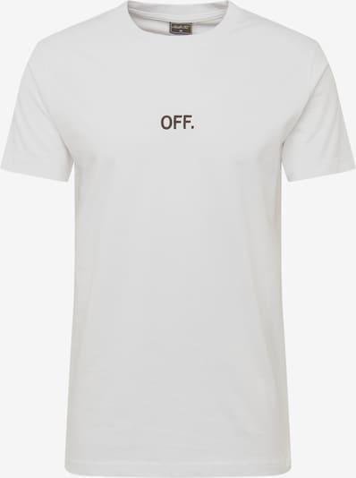 Mister Tee Shirt 'OFF EMB Tee' in de kleur Zwart / Wit: Vooraanzicht