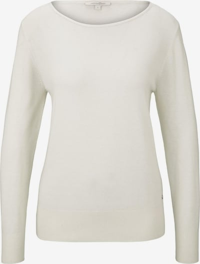 TOM TAILOR DENIM Pullover in offwhite, Produktansicht