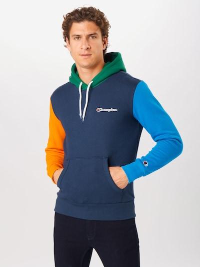 """Megztinis be užsegimo iš Champion Authentic Athletic Apparel , spalva - sodri mėlyna (""""karališka"""") / tamsiai mėlyna / žalia / oranžinė, Modelio vaizdas"""