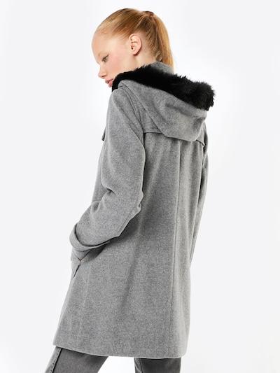 heine Mantel in graumeliert / schwarz: Rückansicht