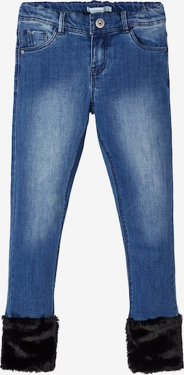 NAME IT Jeans in blue denim / schwarz: Frontalansicht