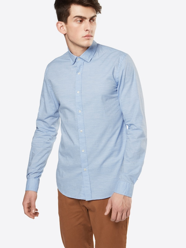 SCOTCH & SODA Hemd 'Longsleeve dress shirt in structured cotton quality'