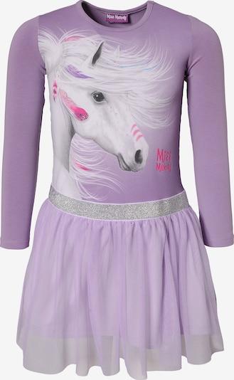 Miss Melody Jerseykleid in lila / mischfarben / silber, Produktansicht
