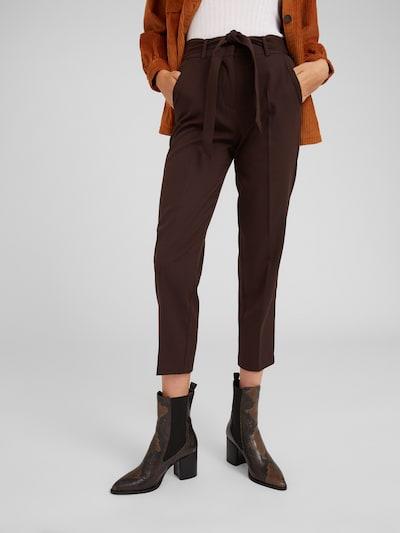 EDITED Pantalon à plis 'Bobby' en brun foncé: Vue de face