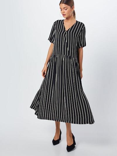 JUST FEMALE Kleid 'Anna' in schwarz / weiß, Modelansicht