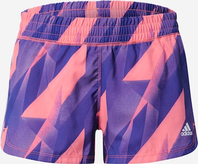 Pantaloni sport ADIDAS PERFORMANCE pe albastru / roz, Vizualizare produs