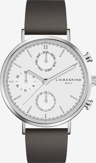Liebeskind Berlin Montre à affichage analogique en moka / argent / blanc, Vue avec produit