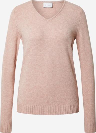 VILA Sweter 'RIL' w kolorze różowy pudrowym: Widok z przodu