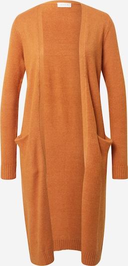 VILA Gebreid vest in de kleur Donkergeel, Productweergave