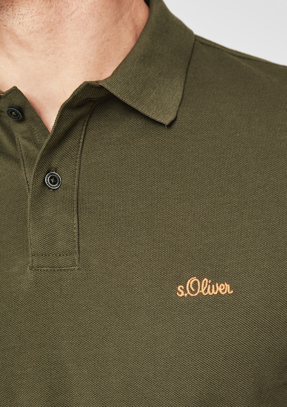 S.oliver Red Label Polo Shirt Made Of Cotton Pique