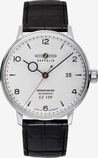 Zeppelin Uhr in schwarz / silber / weiß, Produktansicht