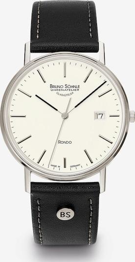 Bruno Söhnle Uhr 'Rondo' in schwarz / silber / perlweiß, Produktansicht