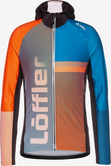 Löffler Laufjacke 'Speed' in blau / orange, Produktansicht