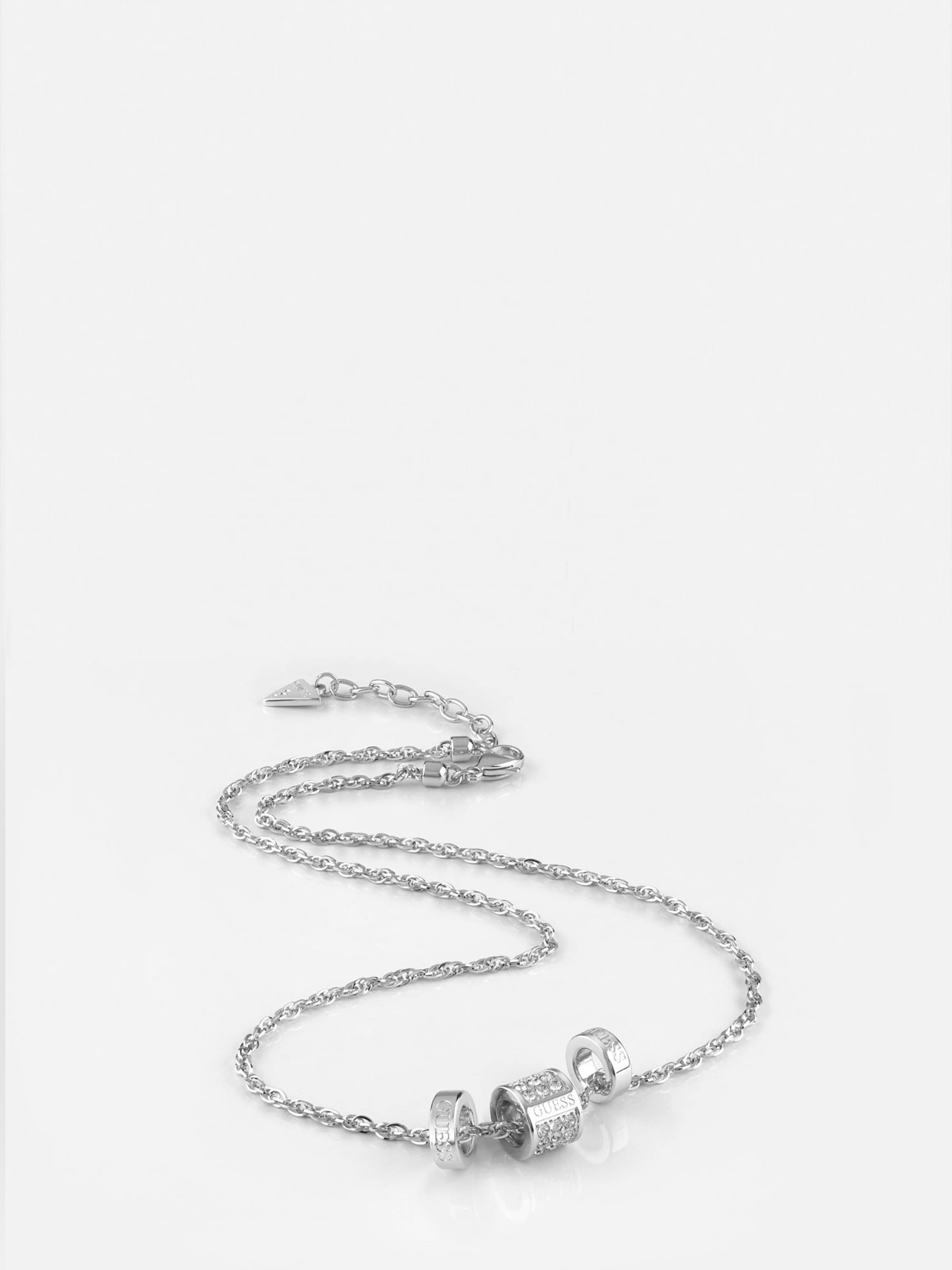 Silber Guess In 'love Knot' Kette y8PvmwONn0