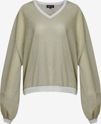 myMo at night Pullover in gold / weiß, Produktansicht