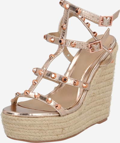 Missguided Sandale 'DOME' in rosegold, Produktansicht