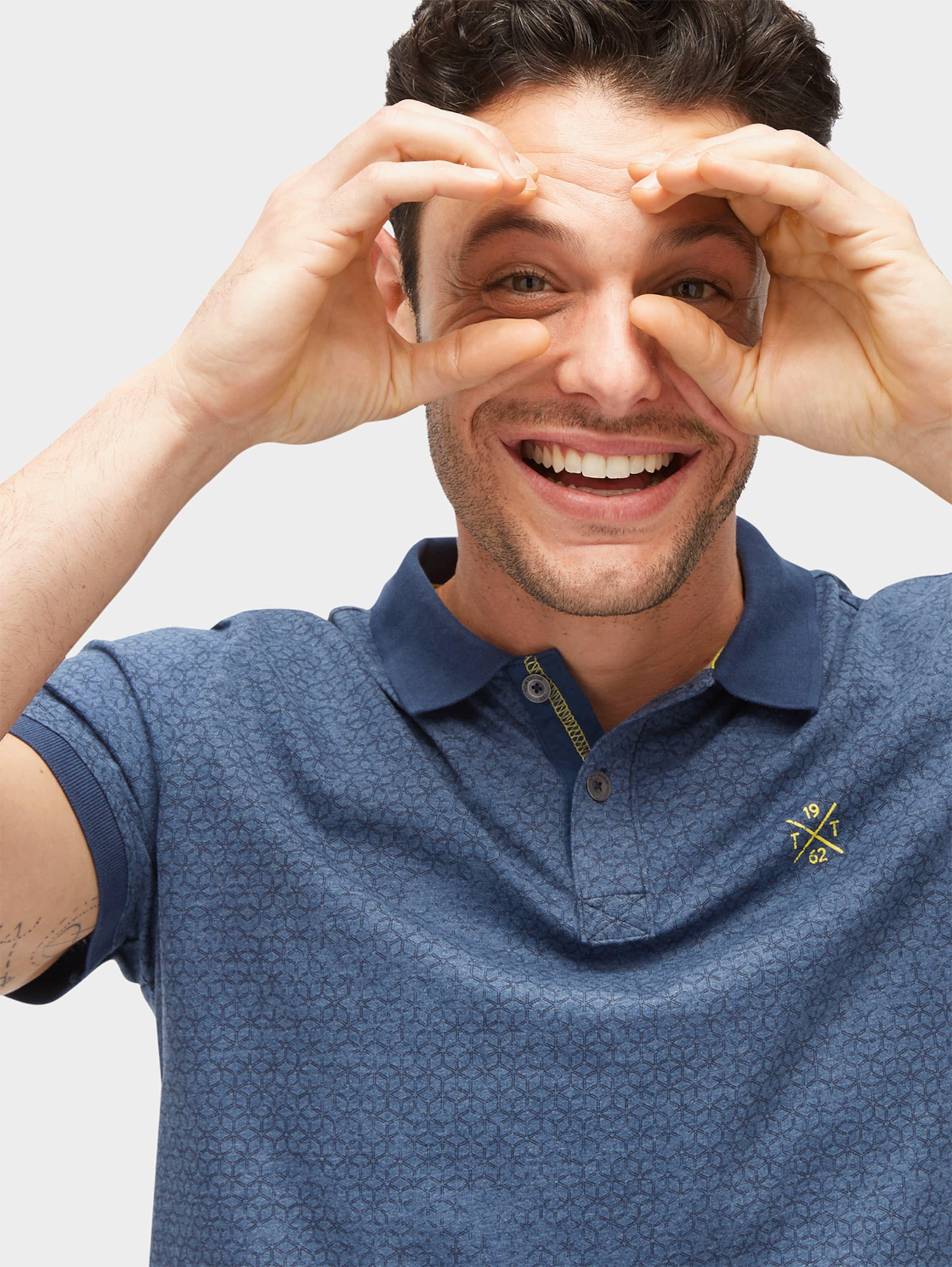 TOM TAILOR Gemustertes Polo-Shirt Auslass Erstaunlicher Preis BcoIVFJHp