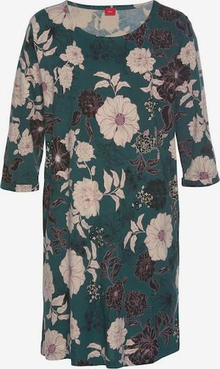 s.Oliver Pyjama in de kleur Groen / Zwart / Wit, Productweergave