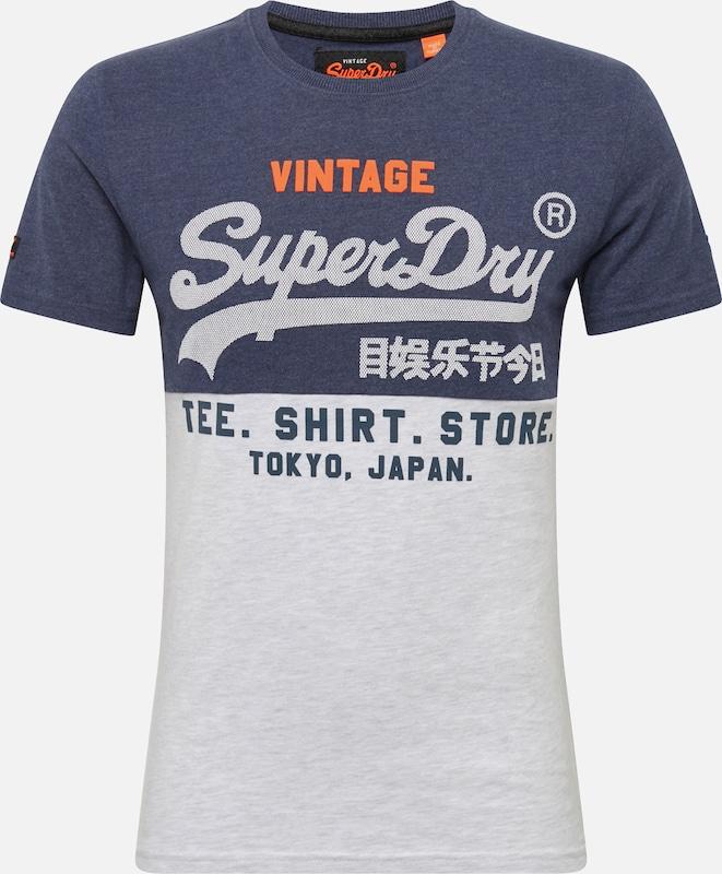 Bleu T Superdry FoncéBlanc shirt En 8wO0vmNn