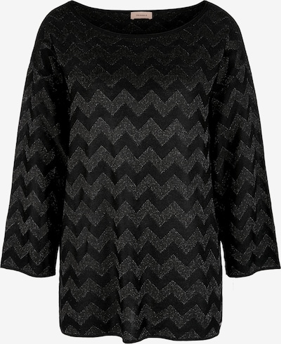 TRIANGLE Pulover | črna / srebrna barva, Prikaz izdelka
