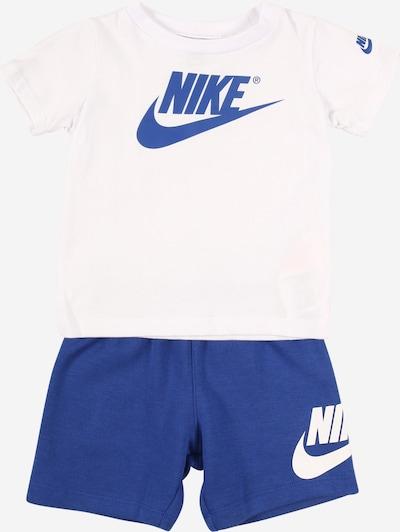Nike Sportswear Set T-Shirt und Shorts in blau / weiß, Produktansicht