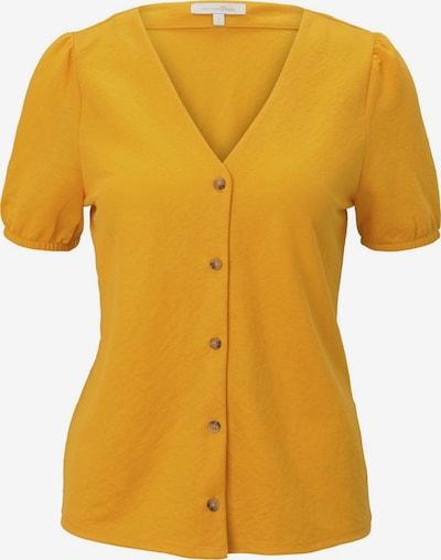 TOM TAILOR DENIM Bluse in goldgelb, Produktansicht