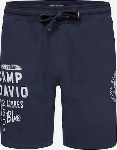 Kelnės iš CAMP DAVID , spalva - nakties mėlyna / balta, Prekių apžvalga