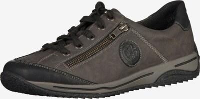 RIEKER Sneaker in dunkelgrau: Frontalansicht