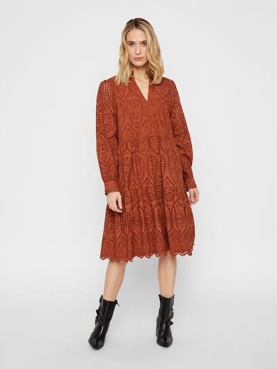 Y.A.S Kleid in rostbraun, Modelansicht