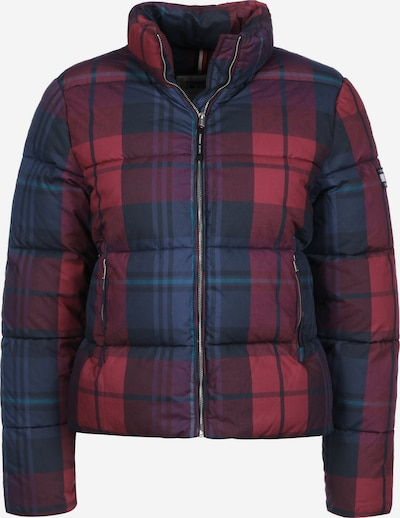 Tommy Jeans Winterjacke ' Cotton Check Puffa W ' in blau / rot, Produktansicht