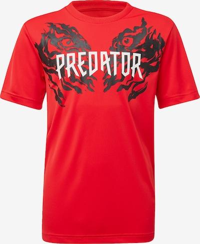 ADIDAS PERFORMANCE T-Shirt in hellrot / schwarz / weiß, Produktansicht