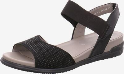 ARA Sandale in schwarz: Frontalansicht