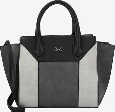 SANSIBAR Handtas in de kleur Lichtgrijs / Donkergrijs / Zwart, Productweergave