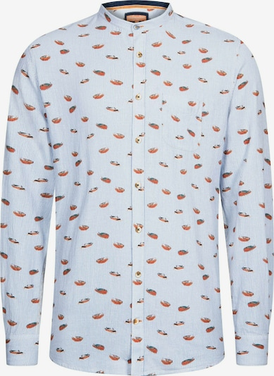 COLOURS & SONS Langarmhemd Hemd Streifen und Boote Leon in blau, Produktansicht