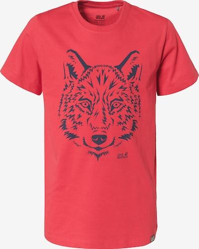 JACK WOLFSKIN Shirt 'BRAND' in blau / rot, Produktansicht