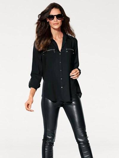 heine Hemdbluse in schwarz, Modelansicht