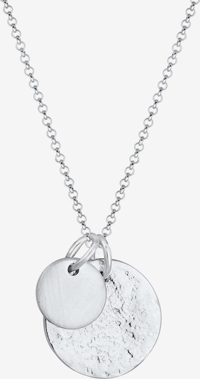 ELLI Halskette 'Geo, Organic, Plättchen' in silber, Produktansicht