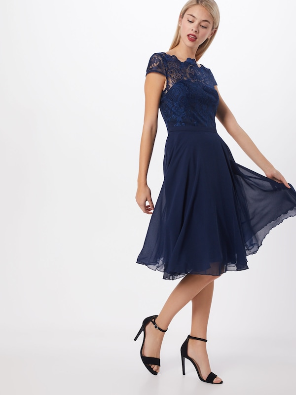 Chi Chi London Kleid 'CHI CHI SANI DRESS' in navy, Modelansicht