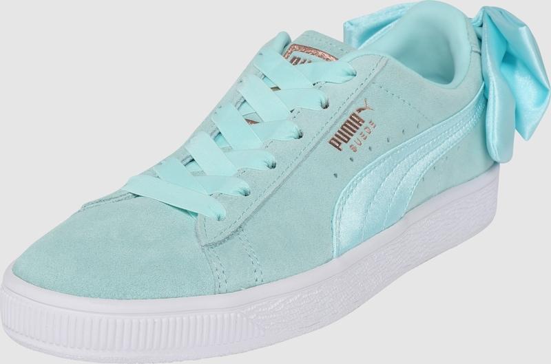 quality design 74db8 4de30 Couche De Chaussures D arc Puma Turquoise Lumière Suède RHq48w