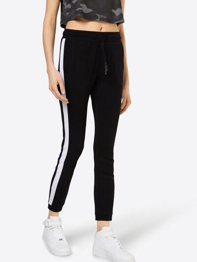 Urban Classics Trousers in black / white, View model