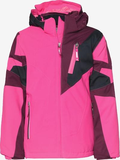 KILLTEC Skijacke 'CULLY' in pflaume / pink / schwarz, Produktansicht
