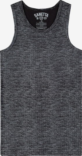 SANETTA Unterhemd in beigemeliert / schwarz, Produktansicht