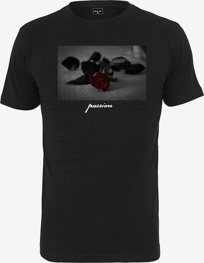 Mister Tee T-Shirt 'Passion Rose' in rot / schwarz: Frontalansicht